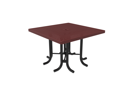 Perforated Steel Square Patio Table