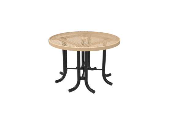 Diamond Pattern Round Patio Table