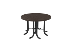 Perforated Steel Round Patio Table