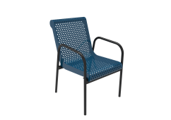 Perforated Steel Stacking Chair