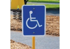 Trike Track Handicapped Logo Sign with Stand