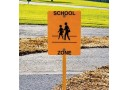 Trike Track School Zone Sign with Stand