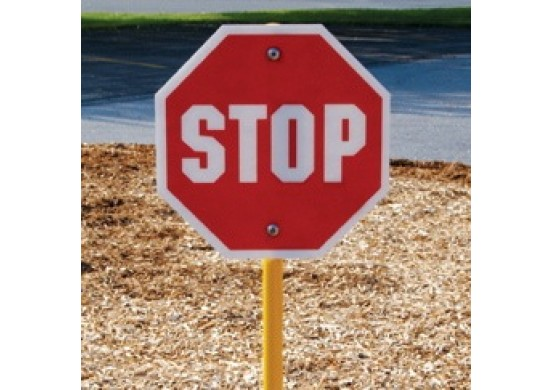 Trike Track Stop Sign with Stand
