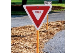 Trike Track Yield Sign with Stand