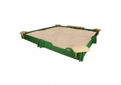 10 feet x 10 feet Sandbox, Cover, Seats, & Bench