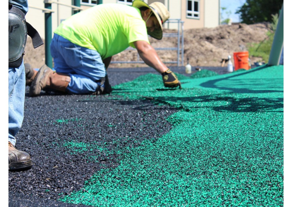 Affordable, Safe Pour-in-Place Rubber Playground Surfacing