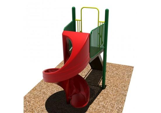6 feet high Open Spiral Slide