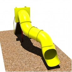 6 feet high Curved Tunnel Slide