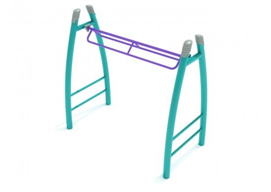 Curved Post Overhead Parallel Bar Climber