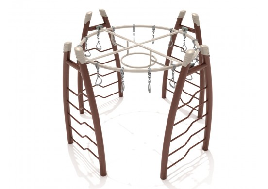 Curved Post Circle Overhead Swinging Ring Ladder