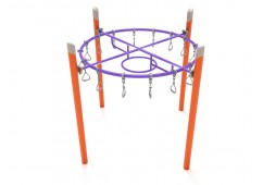 Single Post Circle Overhead Swinging Ring Ladder