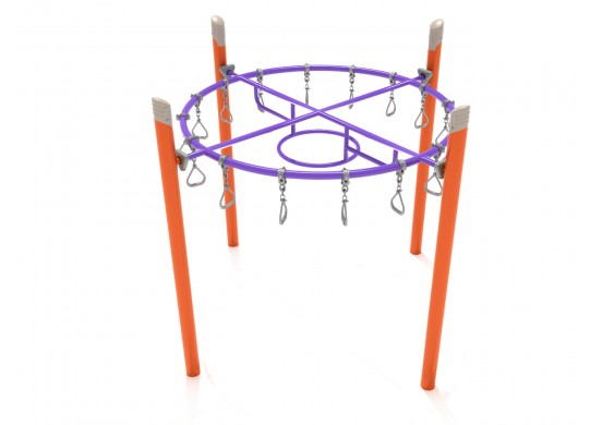 Single Post Circle Overhead Swinging Ring Ladder