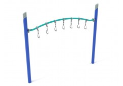 Single Post Curved Overhead Swinging Ring Ladder
