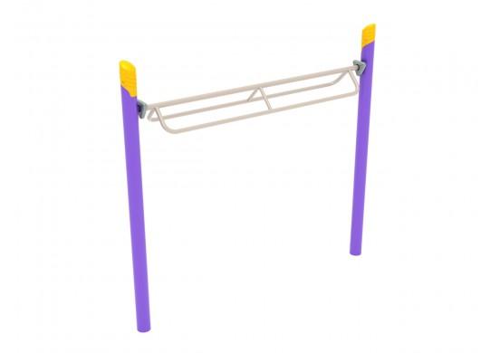 Single Post Overhead Parallel Bar Climber