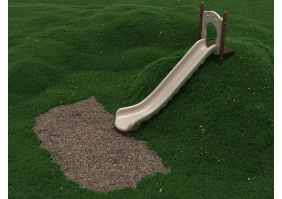 6 Foot Single Straight Embankment Slide