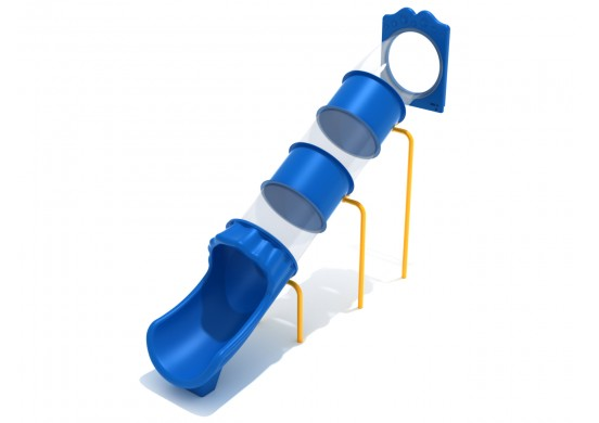 7 Foot Straight Tube Slide - Slide and Mounts Only