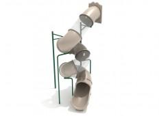 15 Foot Spiral Tube Slide - Slide and Mounts Only