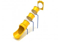 8 Foot Straight Tube Slide - Slide and Mounts Only