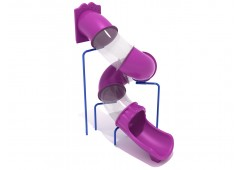10 Foot Spiral Tube Slide - Slide and Mounts Only