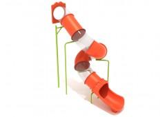 13 Foot Spiral Tube Slide - Slide and Mounts Only