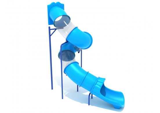 12 Foot Spiral Tube Slide - Slide and Mounts Only