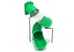 9 Foot Spiral Tube Slide - Slide and Mounts Only