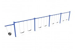 7/8 Feet High Elite Cantilever Swing - 4 Bays 1 Cantilever