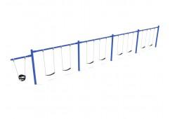 7/8 Feet High Elite Cantilever Swing - 4 Bays 1 Cantilever