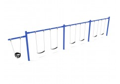 7/8 feet high Elite Cantilever Swing - 3 Bays 1 Cantilever