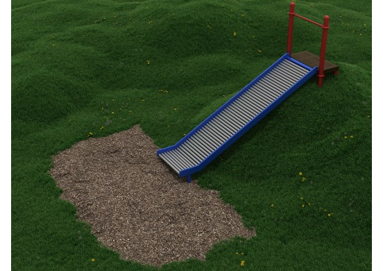 5 Foot Embankment Straight Roller Slide