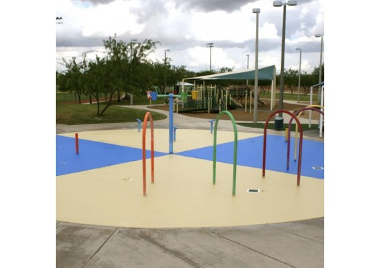 Water Play Spray Coated Rubber