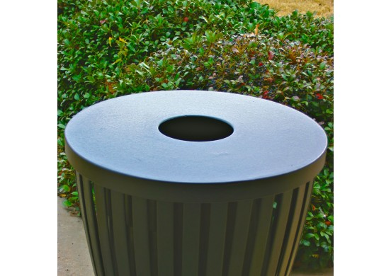 Trash Receptacle 8 inches Opening Flat Top