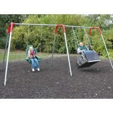 8 feet high Modern Bipod Combination Swing