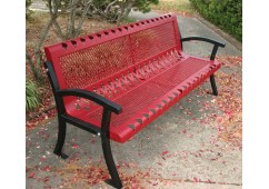 Villa Casino Expanded Steel Bench