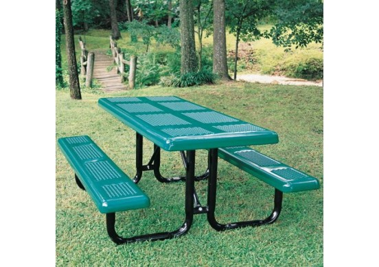 Perforated Portable Frame Rectangle Picnic Table