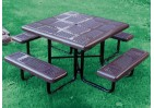 Perforated Portable Frame Square Picnic Table