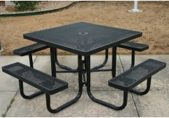 UltraLeisure Expanded Portable Frame Square Picnic Table
