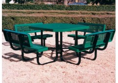 Backrest Octagon Picnic Table