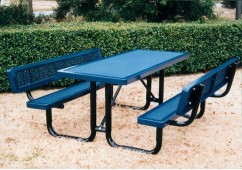 Backrest Rectangle Picnic Table
