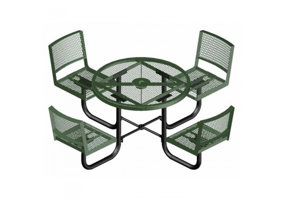 Backrest Round Picnic Table