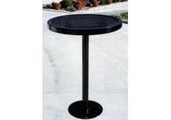 Café Single Pedestal Frame Circle Picnic Table
