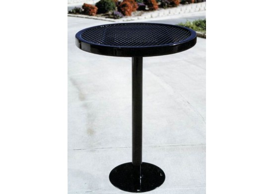 Café Single Pedestal Frame Circle Picnic Table