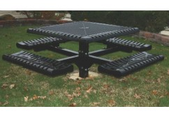 Classic Pedestal Frame Square Picnic Table