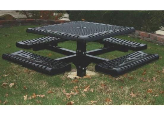 Classic Pedestal Frame Square Picnic Table