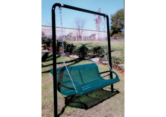 Expanded Steel Bench Swing