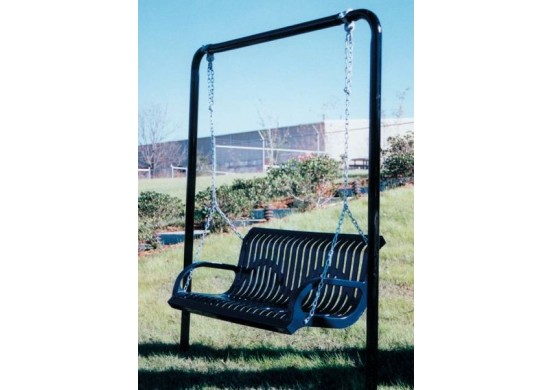Ribbed Steel Bench Swing