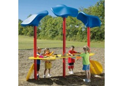 2-Basin Accessible Sand & Water Table with Roofs
