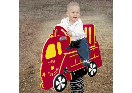 1-Seat Firetruck Spring Rider