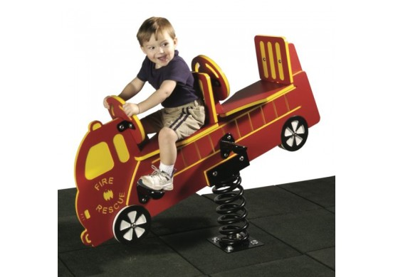2-Seat Firetruck Spring Rider