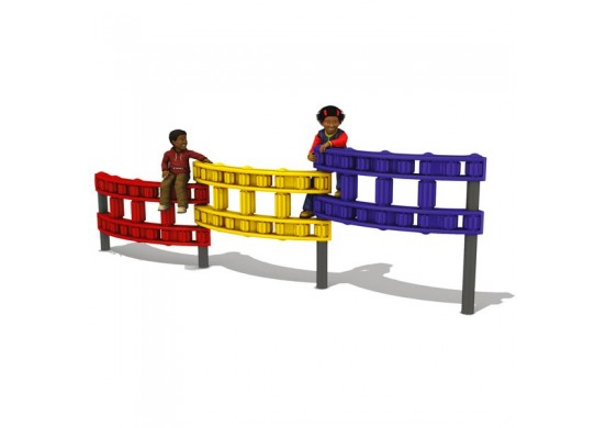 3-Panel Chain Link Wall